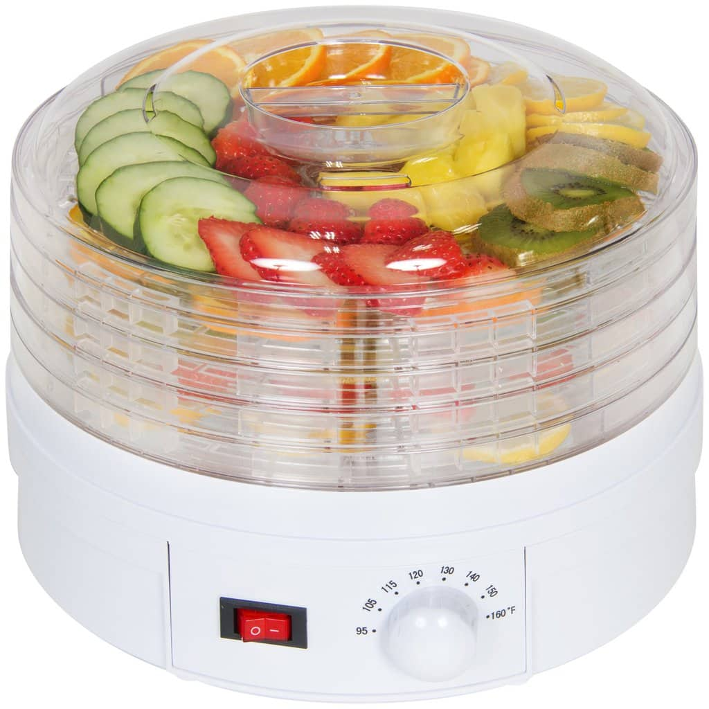 Portable 5-Tray Electric Food Dehydrator With Adjustable Thermostat $45