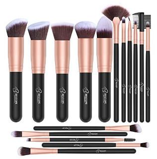 Makeup Brush Set Premium Synthetic Foundation Brush 16 Pcs Rose Golden $6.99 + FS