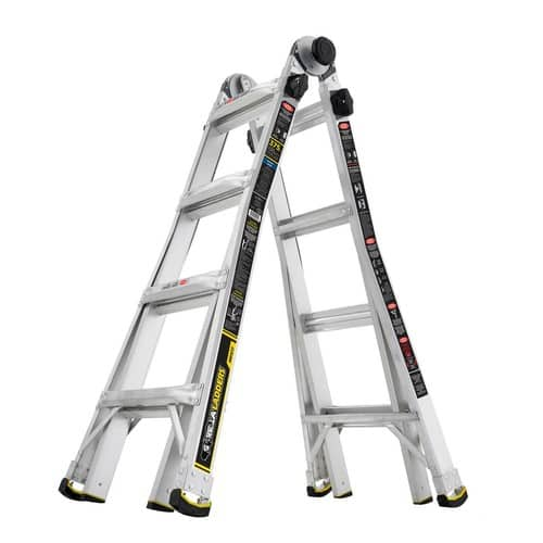 $119: Gorilla Ladders 17 ft. MPX Aluminum Telescoping Multi-Position Ladder with 375 lb. Load Capacity Type IAA Duty Rating