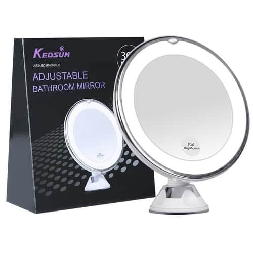 10x Magnifying LED Lighted Makeup Mirror $12.99@amazon