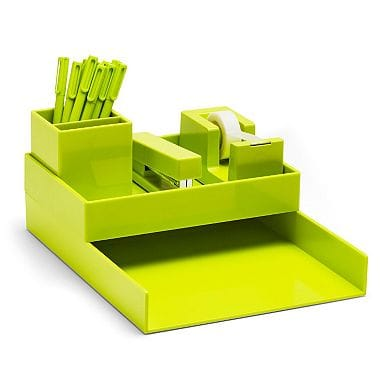 Poppin All Set. 18-Piece Desk Collection, Lime Green $1.81