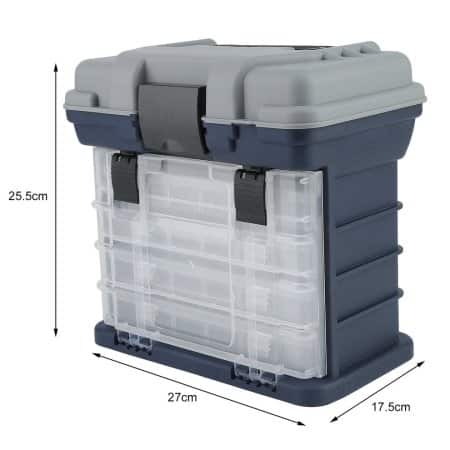 4 Layers Multi functional Portable Fishing Tackle Box Drawer Tray Bait Case Tool Organizer $26.61