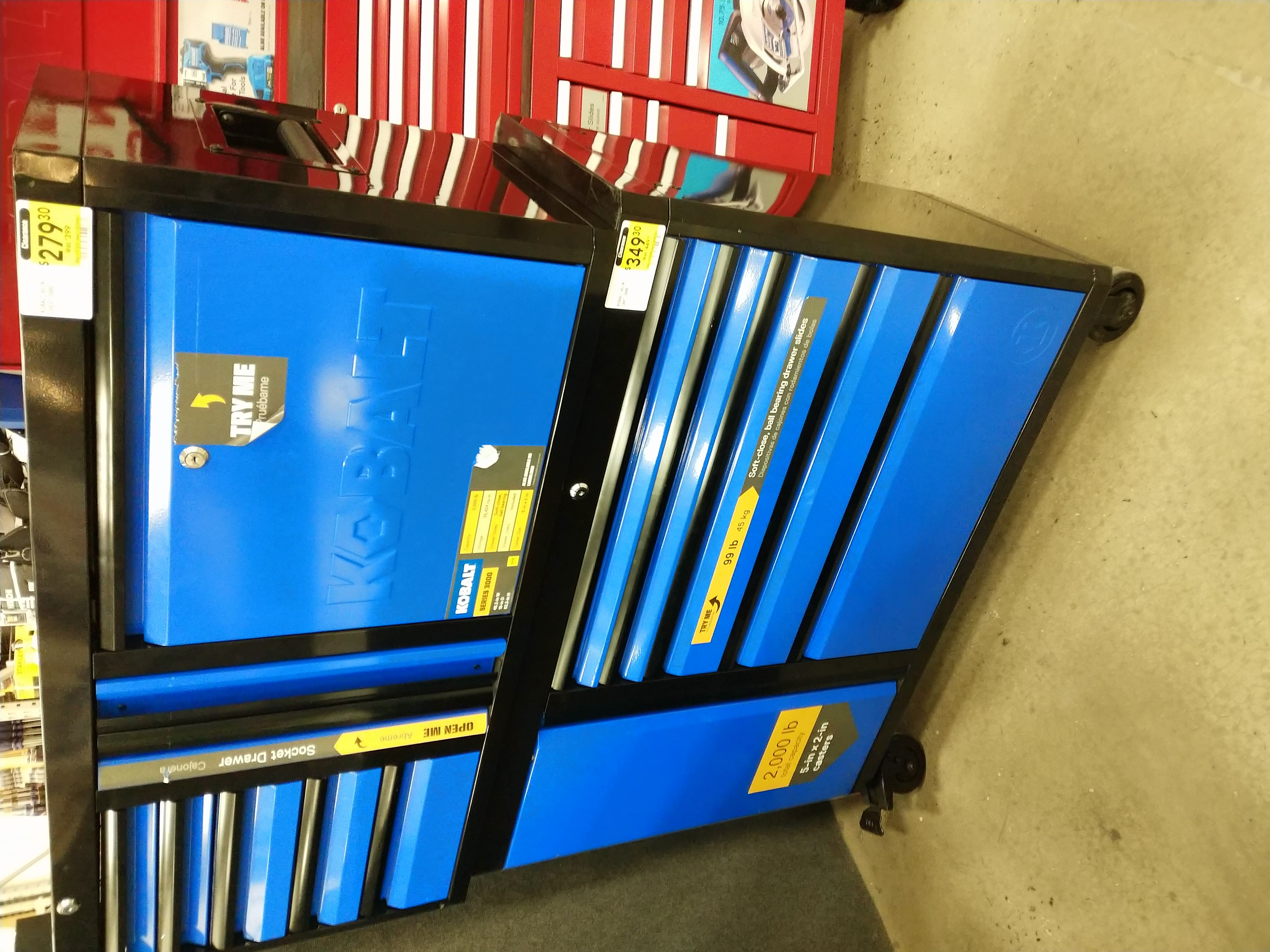 Awesome Kobalt 3000 Tool Cabinet 349 30 And Tool Chest 279 30 Theyellowbook Wood Chair Design Ideas Theyellowbookinfo