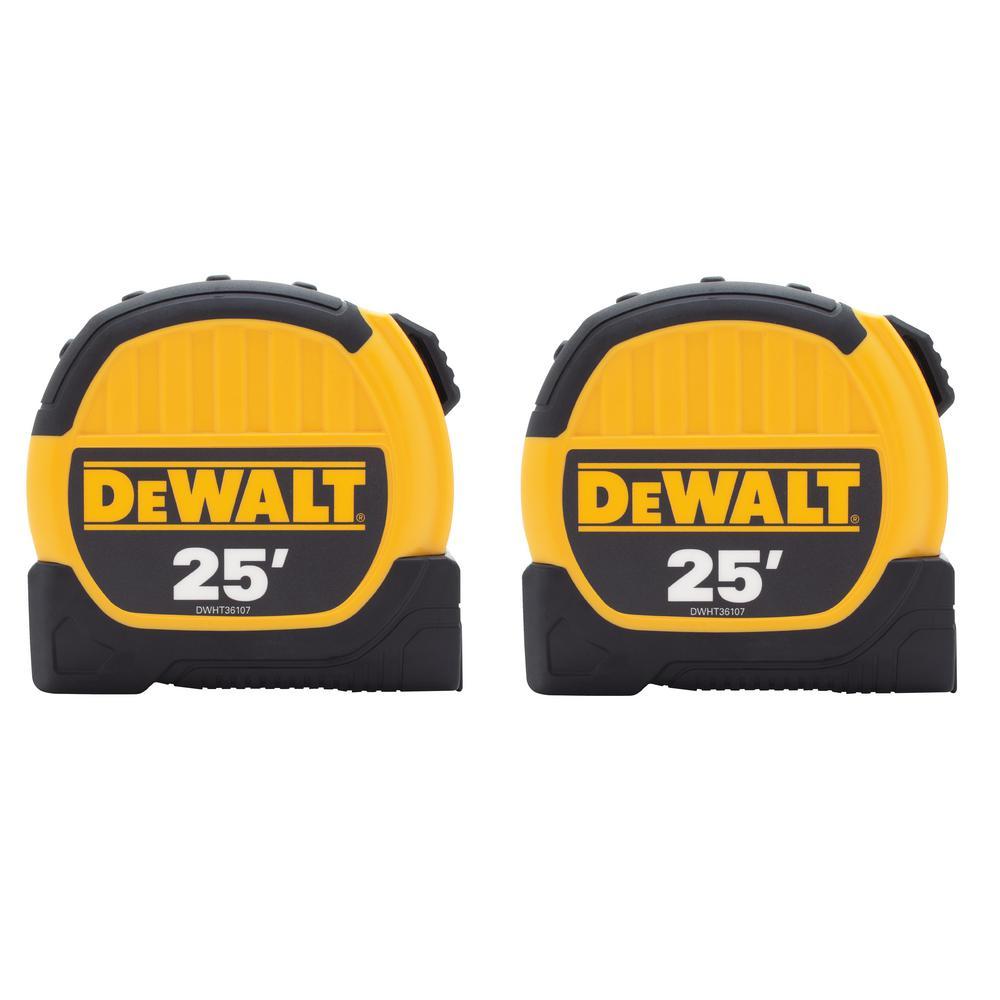 DEWALT 25 ft. Tape Measure (2-Pack) DWHT79307 $11.97 at Home Depot (B&M YMMV)