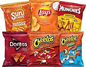 Frito Lay Cheesy Mix Variety Pack, 40 Count  Prime Savings $12.58