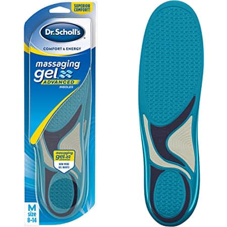 $5  Dr. Scholl's Comfort and Energy Memory Fit Insoles for Men, 1 Pair, (Size 8-14) Free Shipping w/ Prime or on $25+