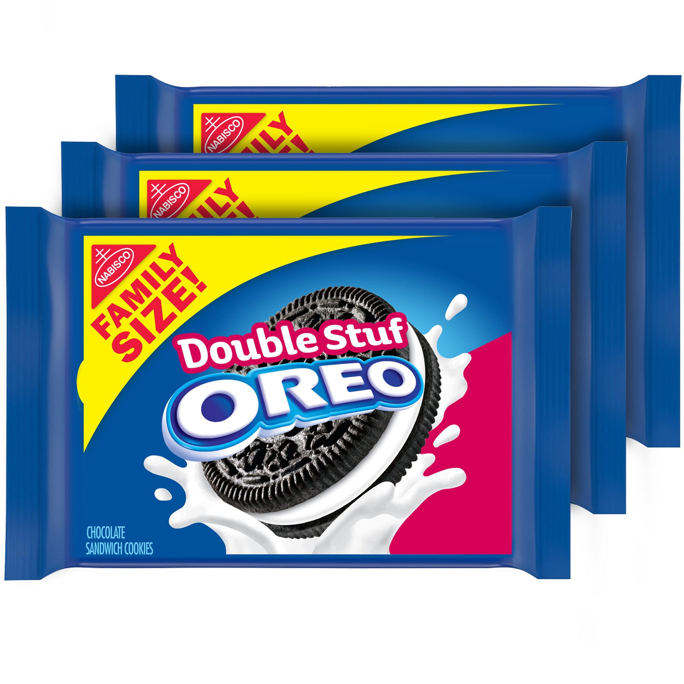 Oreo Double Stuf Chocolate Sandwich , Family Size, 3 Packs $8.15  SUB & SAVE