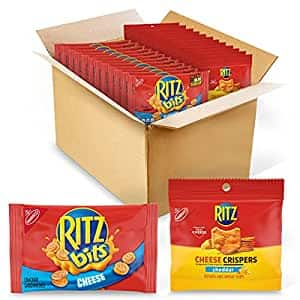 48-Count Ritz Bits Cheese Crackers and Crispers Cheddar Chips Variety Pack  $14.78