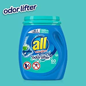 all Mighty Pacs Laundry Detergent 4-In-1 with Odor Lifter, Tub, 60 Count $7.04 w S&S