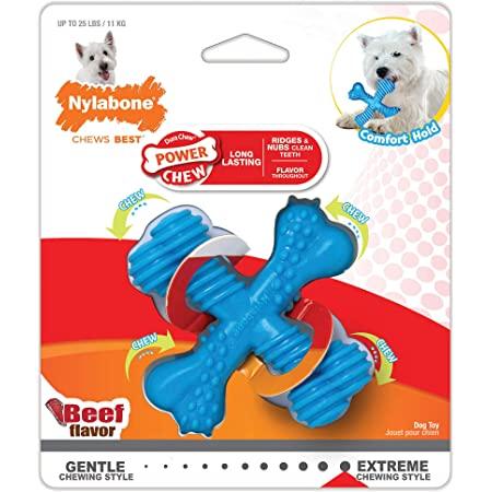 Nylabone X-Shaped Dog Bone Chew Toy for Aggressive Chewers, Teething $3.71 w Subscribe & Save
