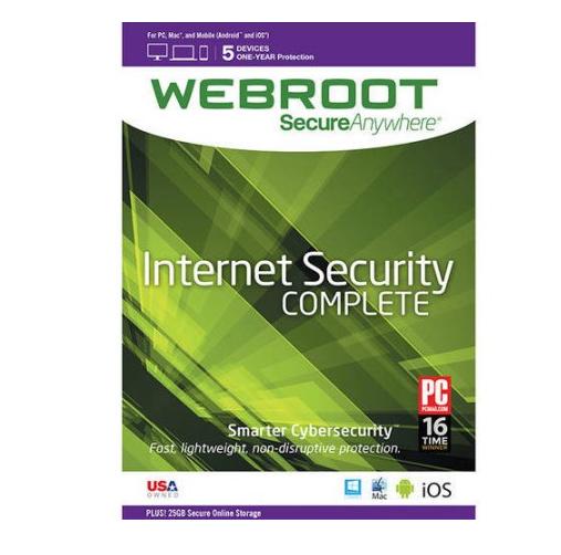 Walmart- Webroot Complete Protection Software (Windows/Mac) $36.00
