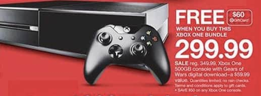 Heads Up: $255 (or lower) Xbox One + $60 Gift Card at Target (online & in-store)