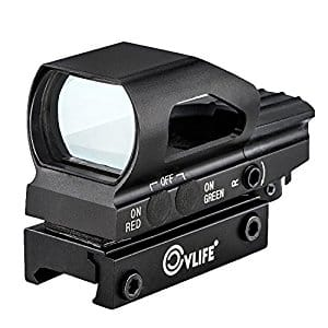 Red & Green Dot Sight 4 Reticles Reflex Sight New Design ON & OFF Switch with 20mm Rail Mount for $24.29 @ Amazon