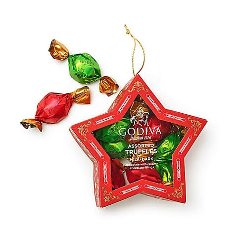 Chocolate-Filled Star Ornament, 10 pc.  $6.00
