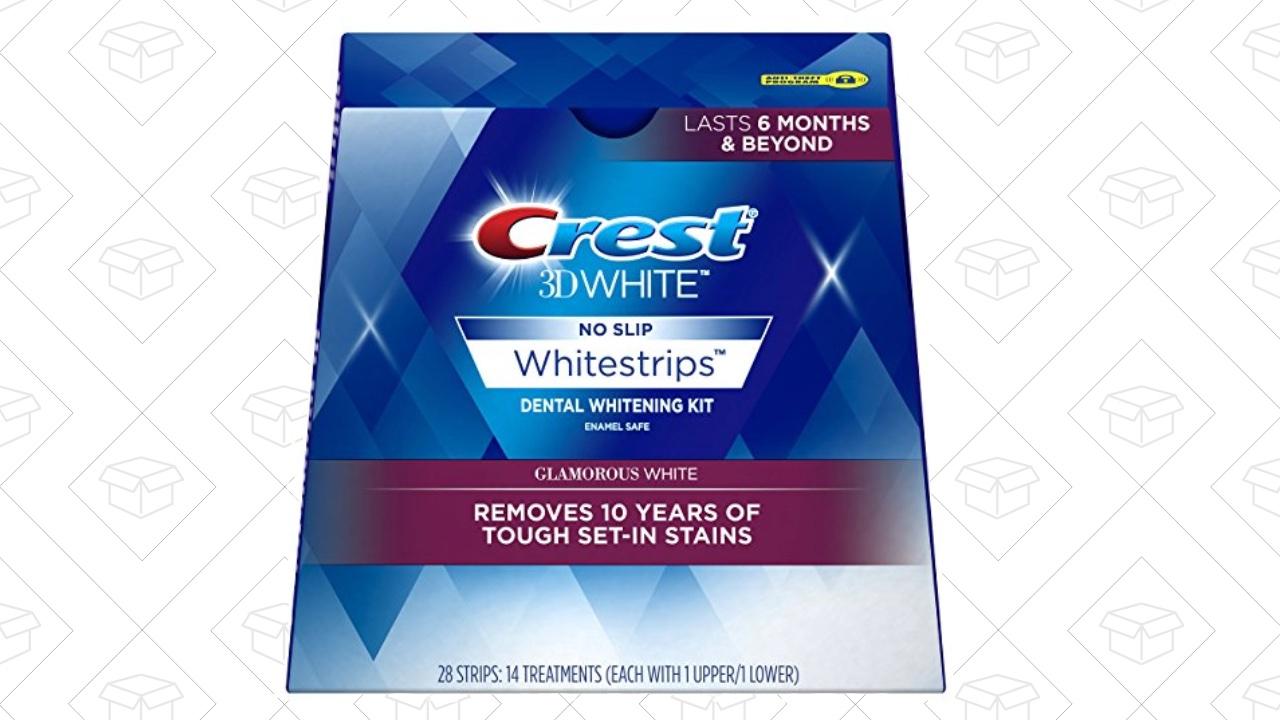 Crest 3D White Glamorous White Whitestrips Dental Teeth Whitening Strips Kit, 14 Treatments - Lasts 6 Months & Beyond [14 Treatments] Amazon's Running a $15 Coupon $19.14