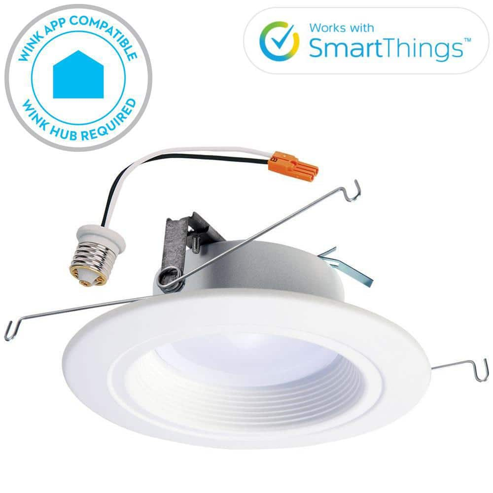 Halo RL 5 in. and 6 in. White Wireless Smart Integrated LED Recessed Downlight Ceiling Fixture, Selectable Color Temperature $19.58
