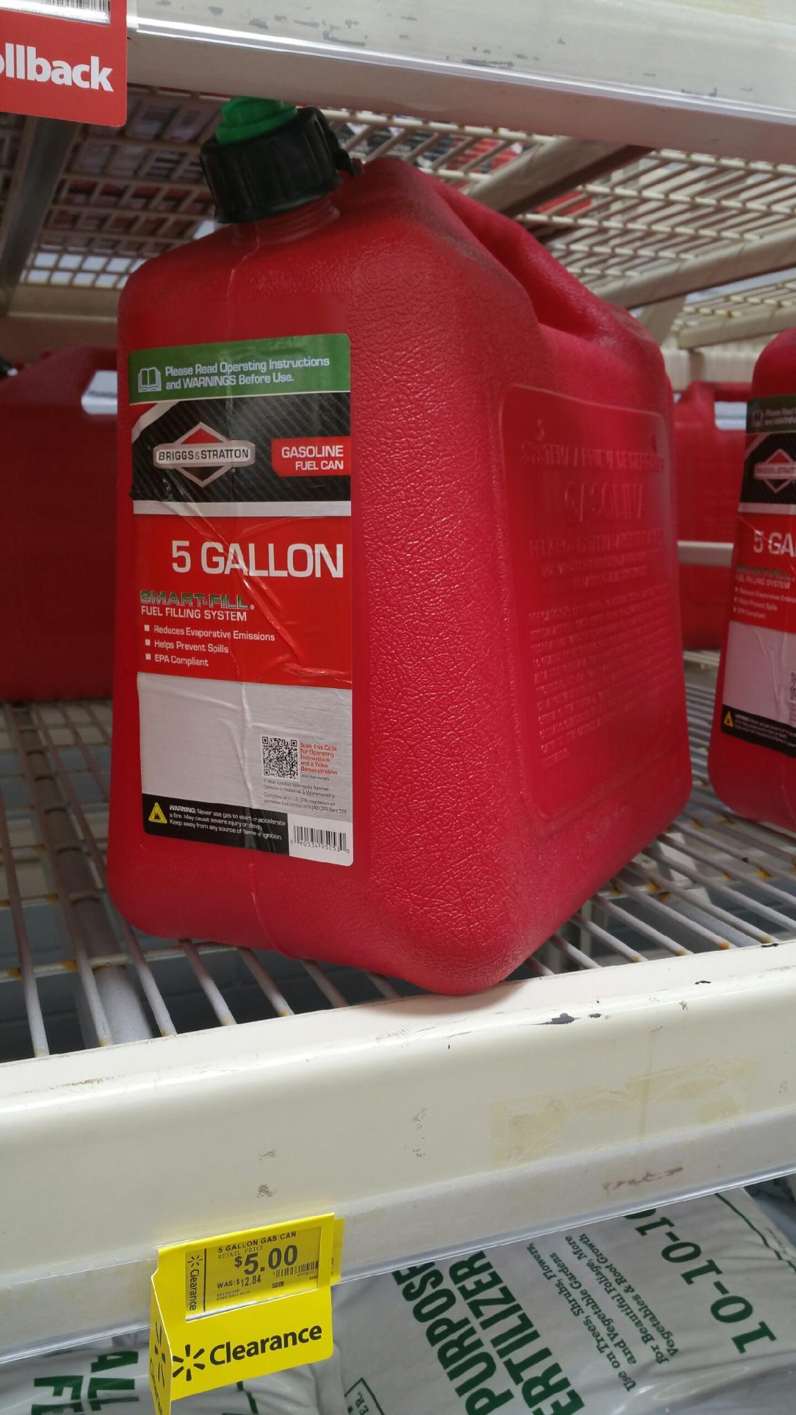 5 Gallon Briggs and Stratton Gas Can
