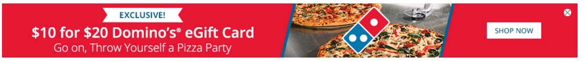 Groupon : $10 for $20 Domino's eGift Card. This deal is invitation-only.
