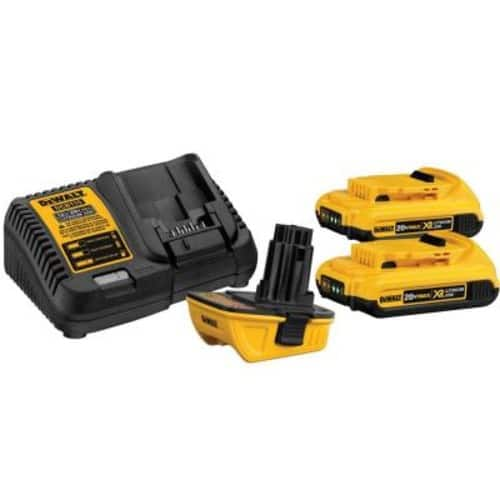 DeWalt DCA2203C 20V MAX Battery Adapter Kit for 18V Tools $105 at Amazon