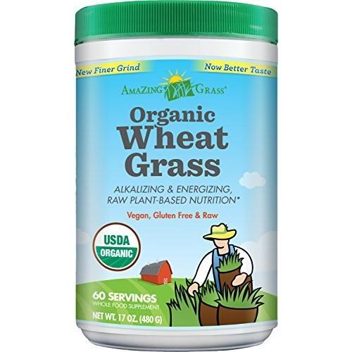 Amazing Grass Organic Wheat Grass Powder 60 Servings, 17 Oz [Wheat Grass, 60 Servings] $20.79 after 20% Clipped Coupon