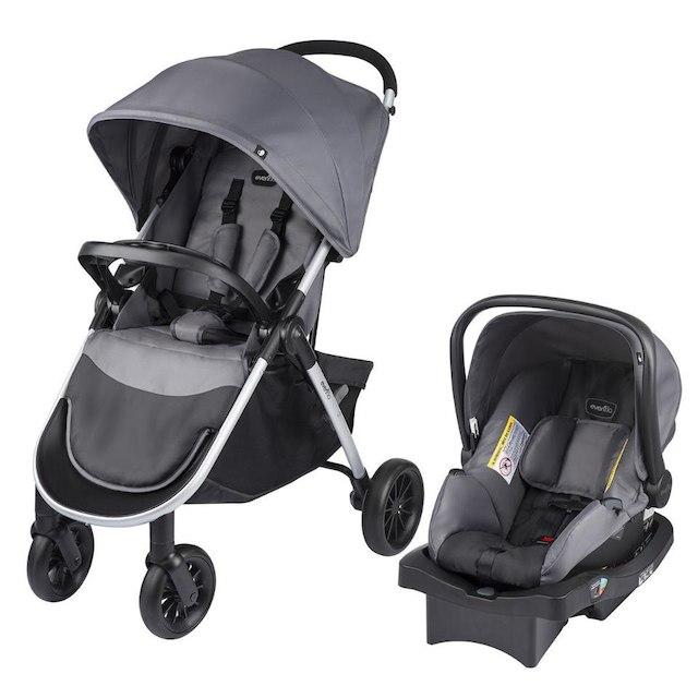 $100 OFF!!! Evenflo Folio Tri-Fold Travel System with LiteMax Infant Car Seat - Metro Gray $69.99