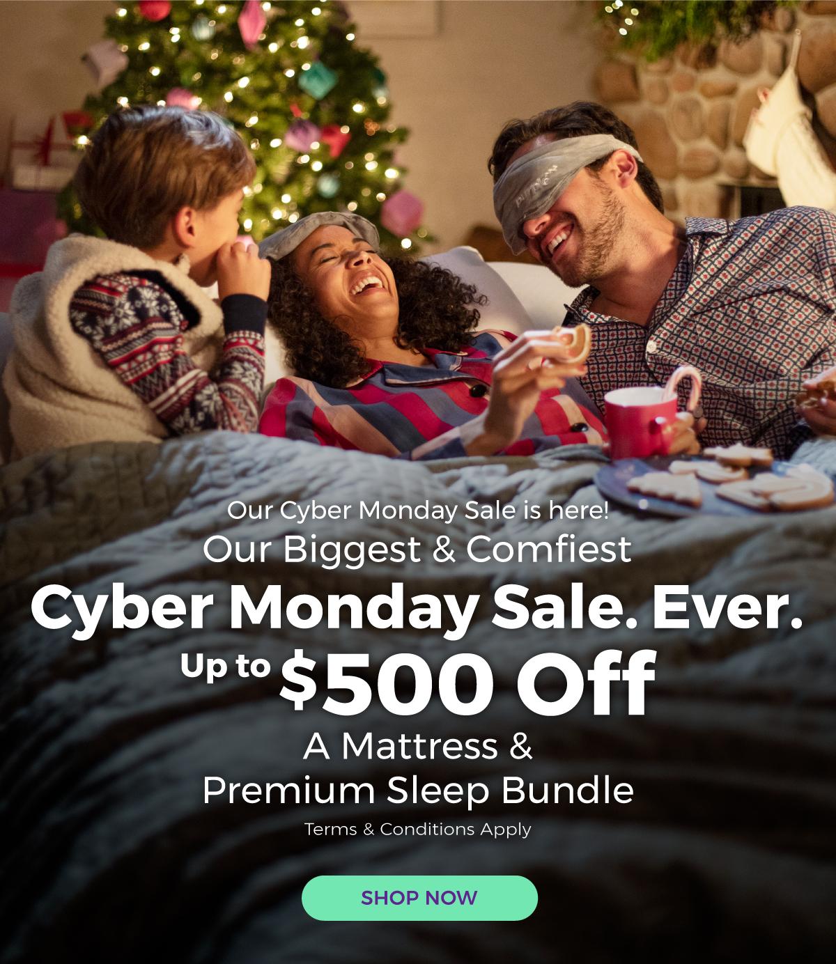 Purple Cyber Monday Sale *UP TO* $500 When You Purchase Mattress & Sleep Bundle - YMMV
