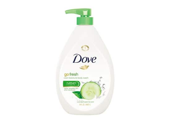 Dove Body Wash Pump, Cucumber and Green Tea 34 oz-$8.47[Add-on Item]@Amazon.