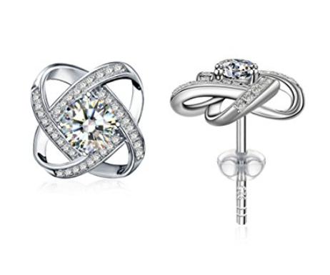 925 Sterling Silver Cubic Zirconia Stud Earrrings for $14.32 @ Amazon