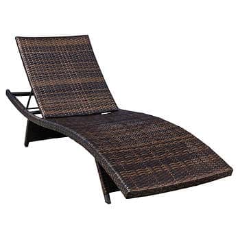 Berkley Jensen All-Weather Outdoor Wicker Adjustable Chaise Lounger $99.00