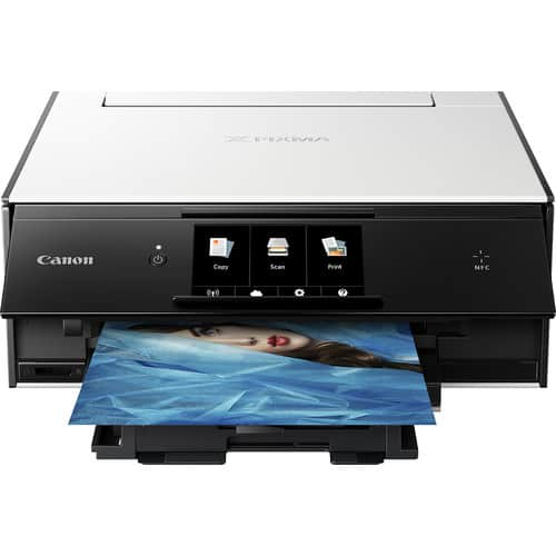 Canon - PIXMA TS9020 Wireless All-In-One Printer - White/Black, No coupon needed $50+ tax, where applicable $50-$57