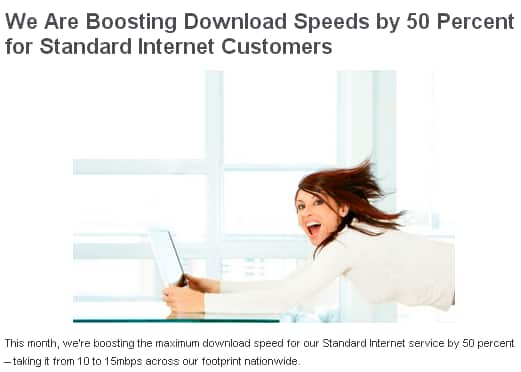 FREE 50% Speed Upgrade for Time Warner Cable Internet Customers