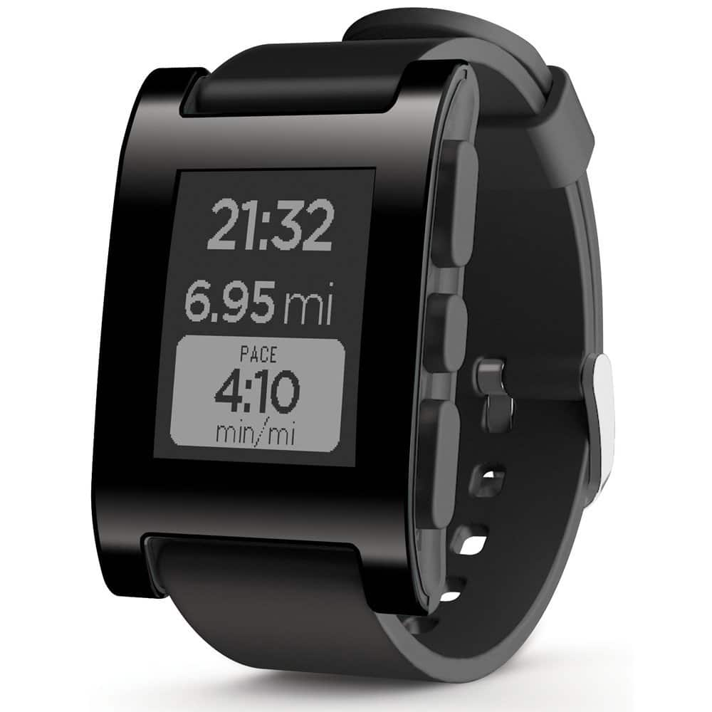 Pebble Smart Watch for Select Apple and Android Devices - Black - $99 @ Best Buy