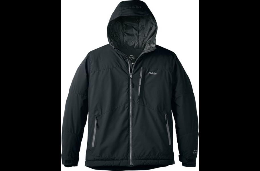 Cabela's XPG™ Men's Black XL Advance Hooded Jacket PrimaLoft®  WindStopper® Regular.  Winter Coat Hot Deal - Orig $179.99 - Save $150.11 - Wow, 52% price drop! - Sale Price $29.88!