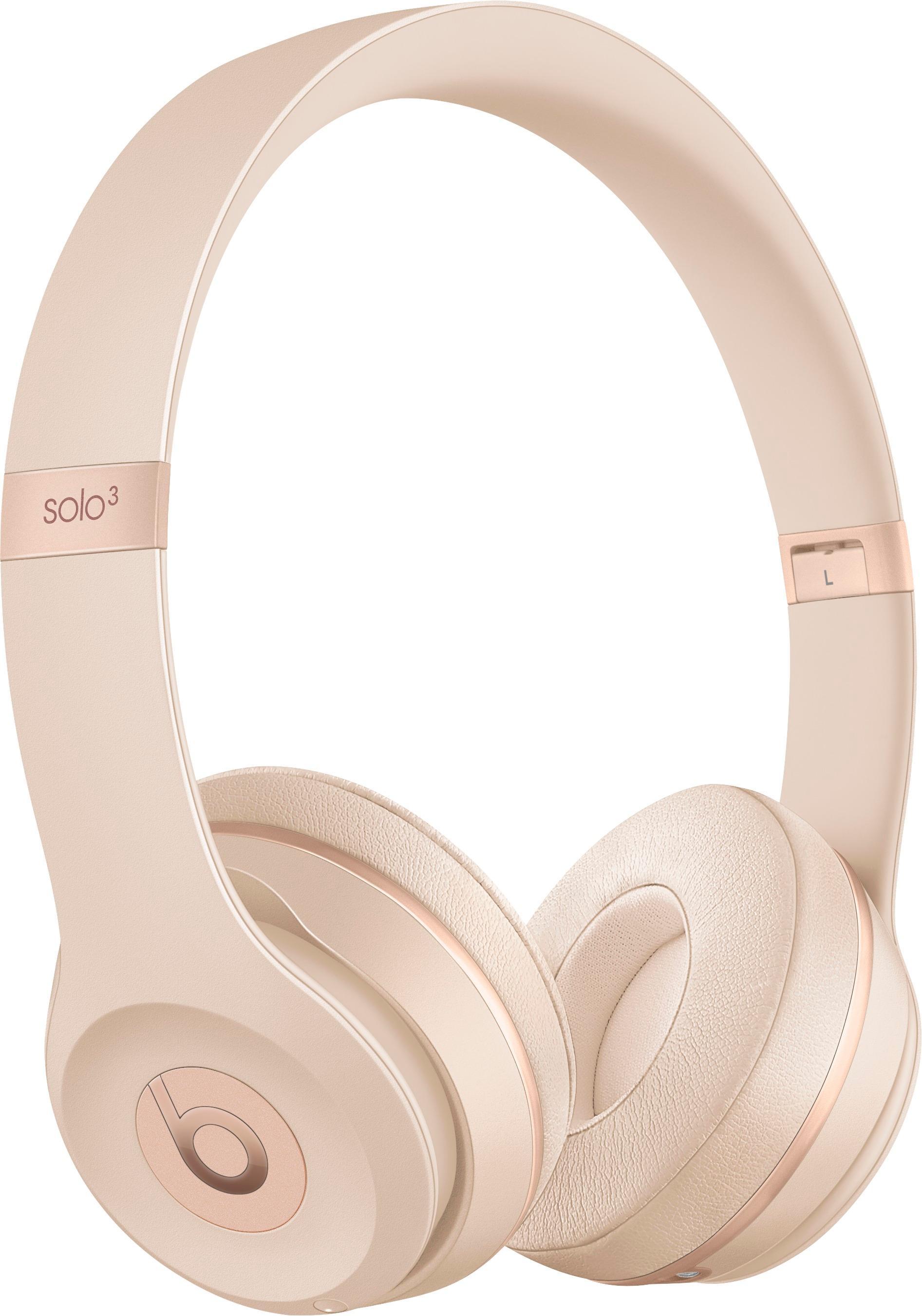 Beats by Dr. Dre - Beats Solo3 Wireless Headphones - Matte Gold $180 @Bestbuy