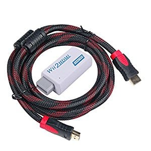 Wii to HDMI Converter with HDMI Cable 6 ft $12.99
