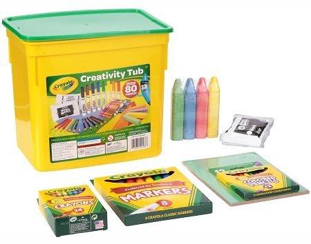 Crayola Creativity Tub, 80 pieces  $9.16 @Walmart