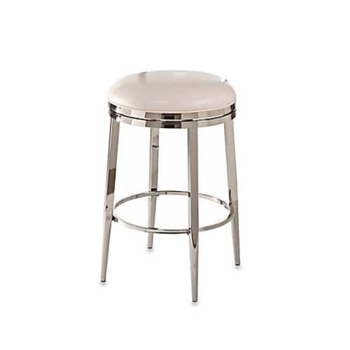 Ampersand  Halton Swivel 30-Inch Backless Counter Stool in Ivory $64.99 @Bed Bath&Beyond