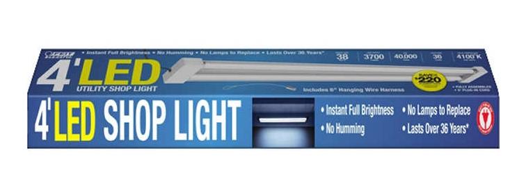 Feit 4' LED Dual tube Shop Light $10 YMMV