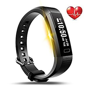 LEMFO Fitness Tracker Bluetooth Smart Watch Heart Rate Monitor Pedometer Bracelet $17.93 on Amazon