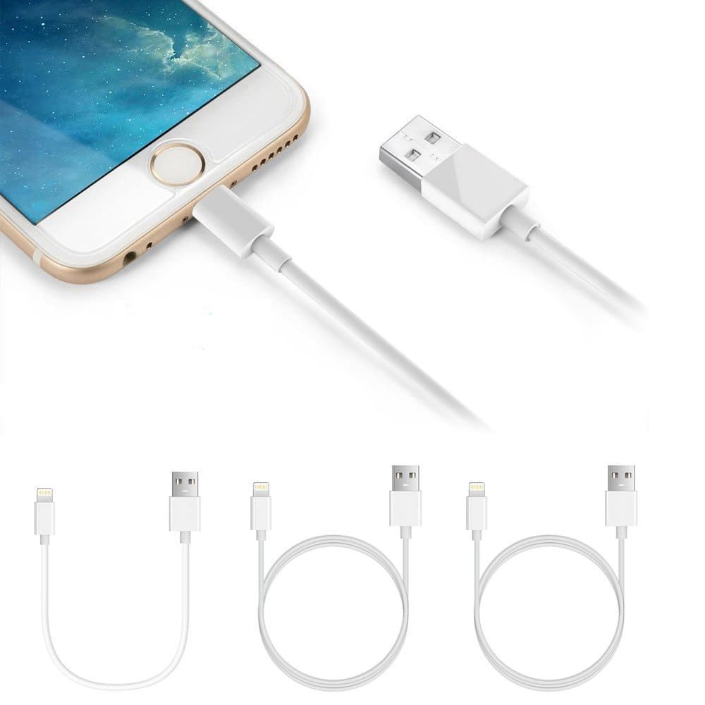 Lightning Cables, 3 Pack iPhone Charger Cables for $3.99 @ Amazon