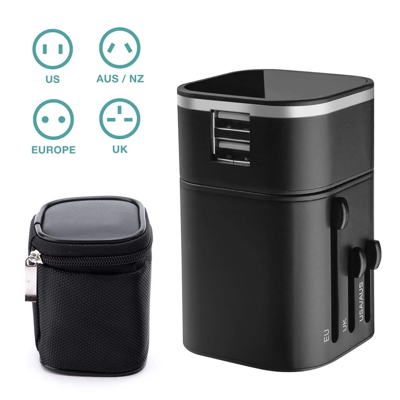 Travel Adapter - Emixc Travel Charger Universal Worldwide for $5.9 @ Amazon