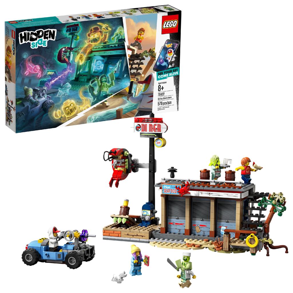 LEGO Hidden Side Shrimp Shack Attack 70422 AR Toy Building Set - $28
