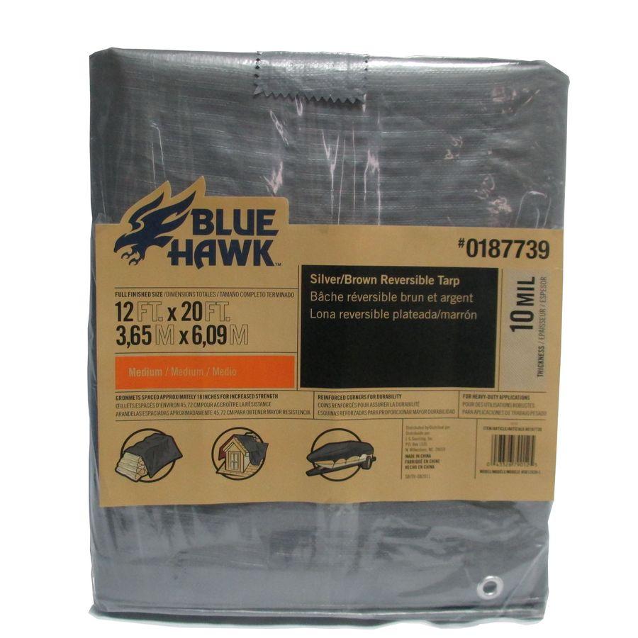 YMMV - Lowe's Clearance - Blue Hawk 12-ft x 20-ft Polyethylene Tarp - Prices Vary $12