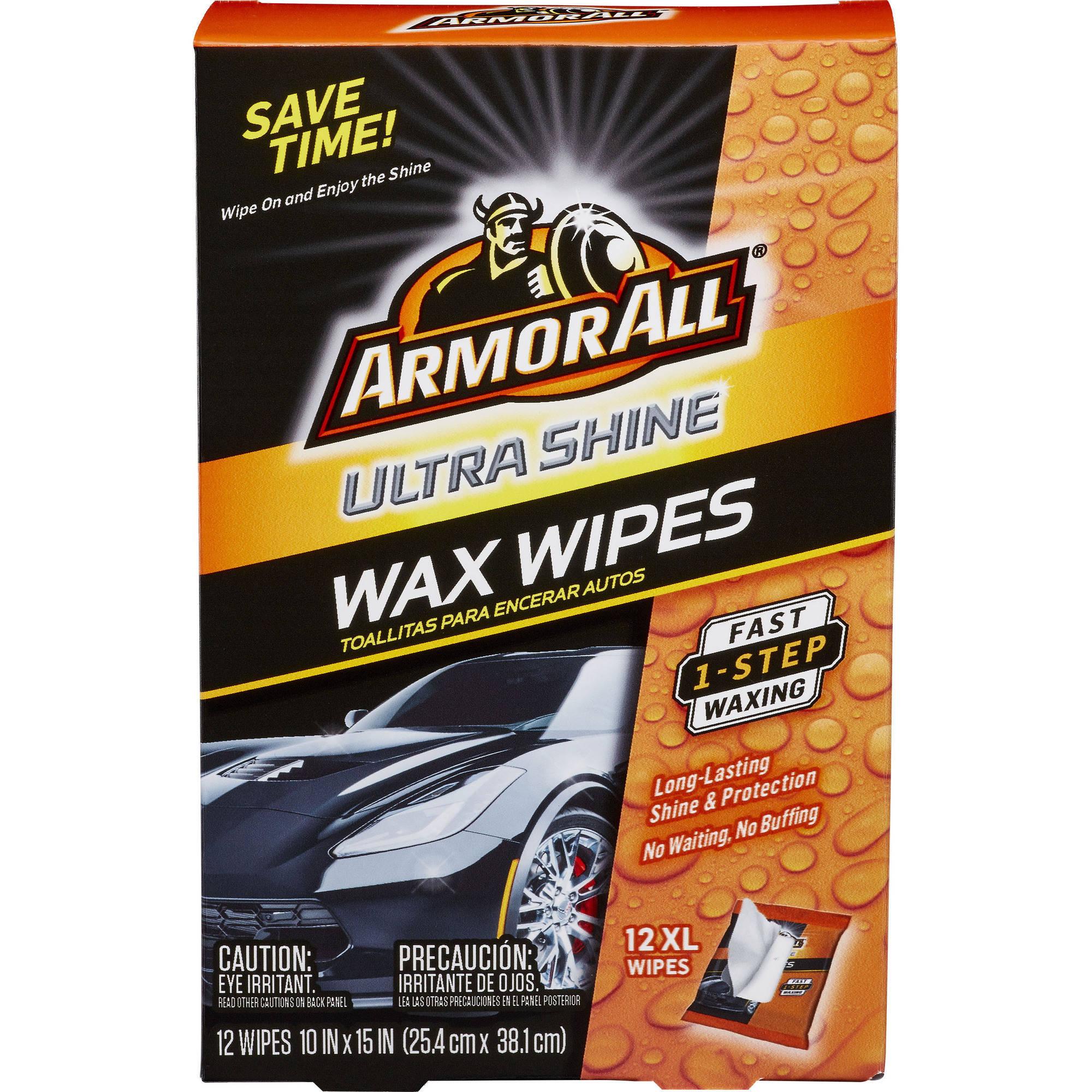 YMMV - WM Clearance - Armor All Ultra Shine Wax Wipes, 12 count, Car Wax Wipes - $0.50