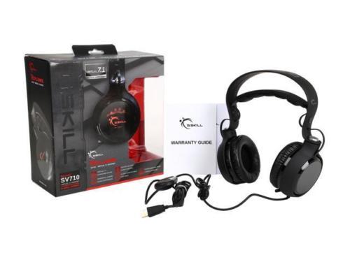 G.SKILL RIPJAWS SV710 Dolby 7.1 Surround Sound USB Gaming Headset $22.66