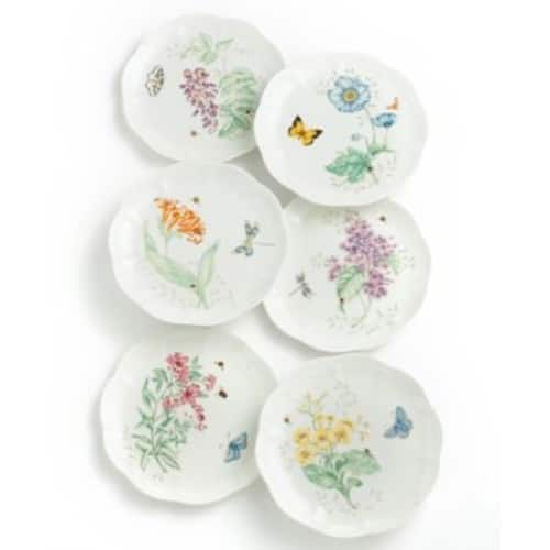 """Lenox Butterfly Meadow China - 9"""" Accent Salad Plate - Tiger Swallowta $9.34"""