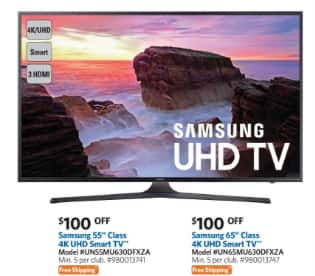 """Samsung 55"""" 4K UHD Smart Curved LED TV (UN55MU650D) $778 with free shipping online and B&M on Saturday only (5/13)"""