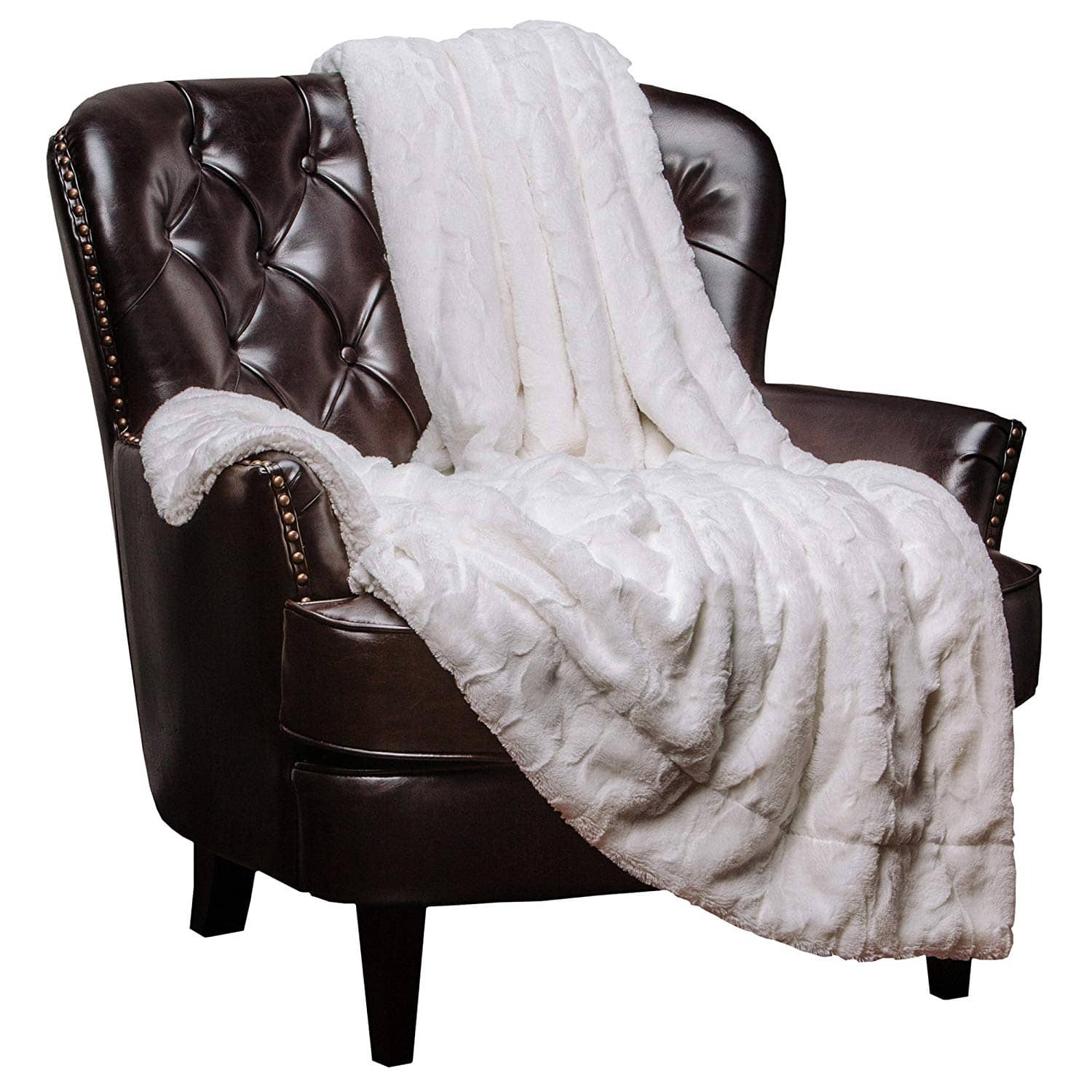 Chanasya Fuzzy Faux Fur Throw Blanket - Soft Light Weight Blanket 60x70 $23 Various Colors