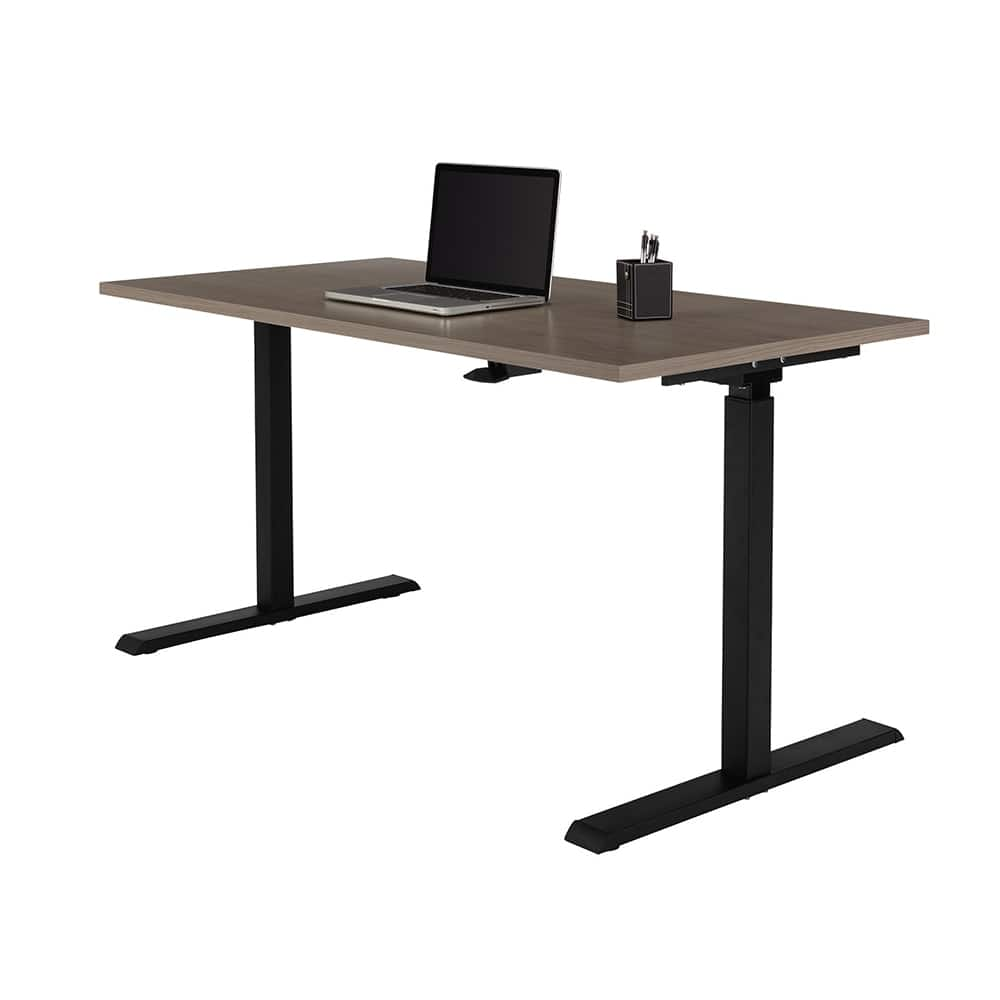 Realspace® Magellan Pneumatic Sit-Stand Height-Adjustable Desk, Gray $160