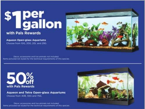 $1 per Gallon at PetCo for 10G, 20G, 20L, and 29G +10% OFF